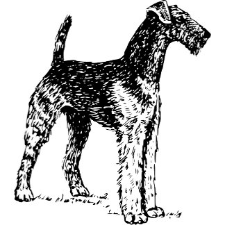 Airedale Terrier dog graphic