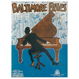 Baltimore Blues  - Vintage Song Sheet Music Art
