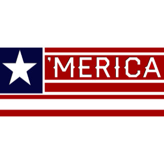 Customizeable 'MERICA Usa Flag
