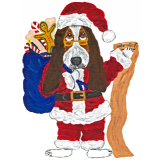 Basset Santa Checking List Of Good Basssets