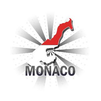 Monaco Flag Map 2.0