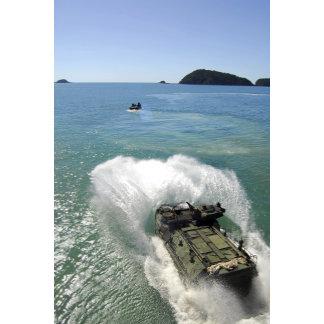 Amphibious Assault vehicles exit the well deck