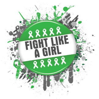 Fight Like a Girl Cool Button - Cerebral Palsy