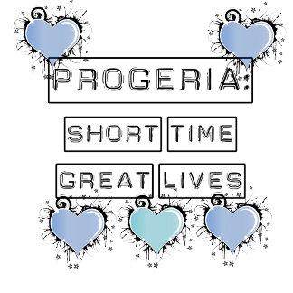 Progeria, blue hearts