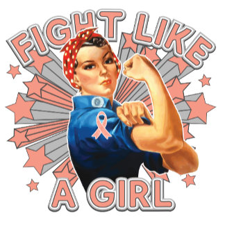 Endometrial Cancer Vintage Rosie Fight Like A Girl