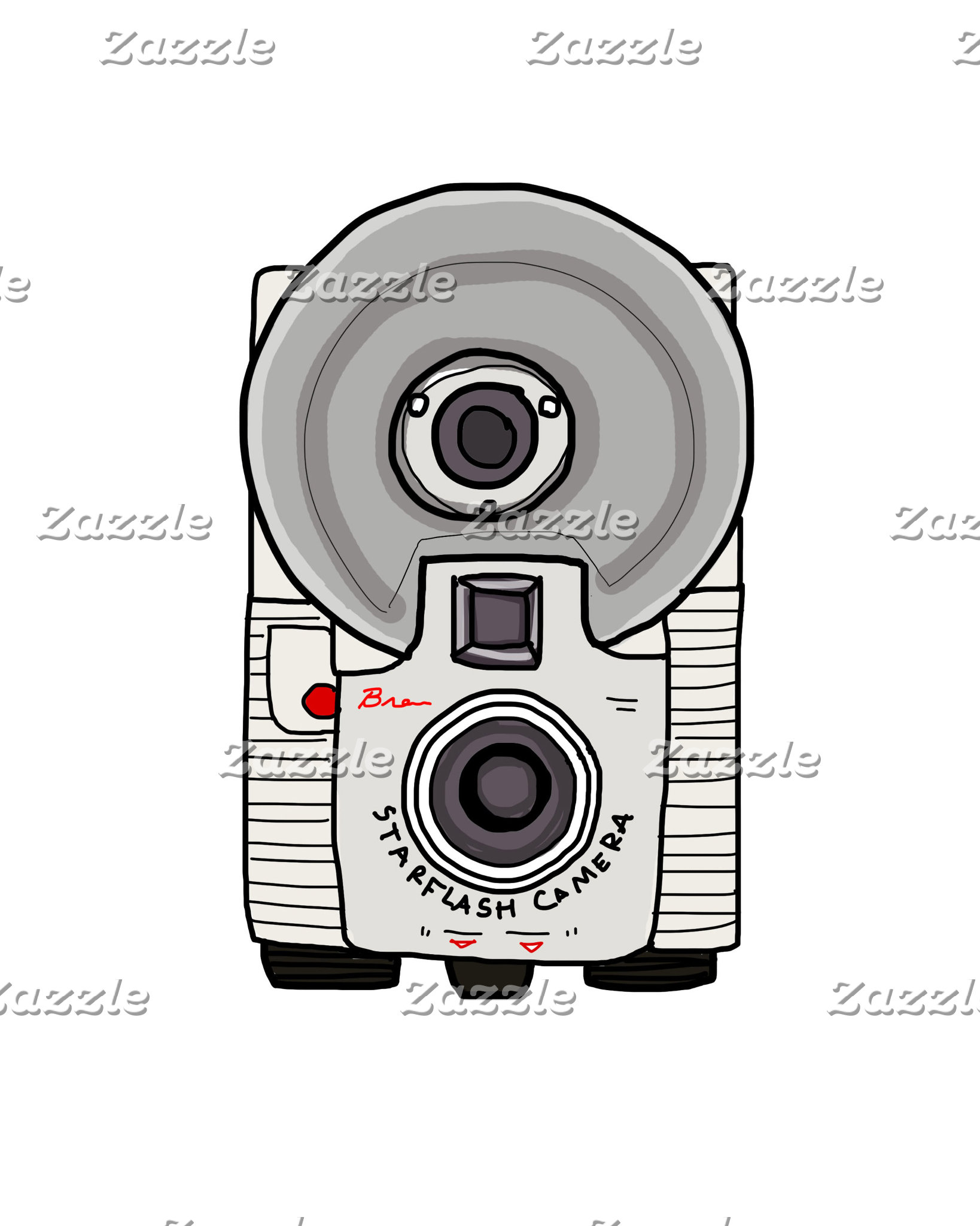 Vintage Camera Gray and White