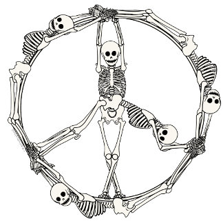 Peace Sign Skeletons