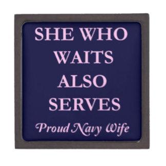 She Who Waits Also Serves