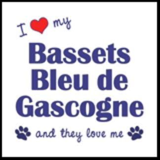 I Love My Bassets Bleu de Gascogne (Multiple Dogs)