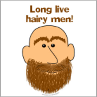Long Live Hairy Men Cartoon Man