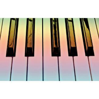 electric keyboard with rainbow overlay