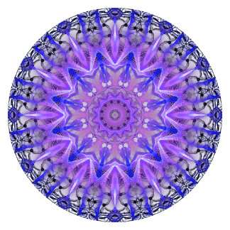 Abstract Plum Crystal Palace Lattice Lace Mandala