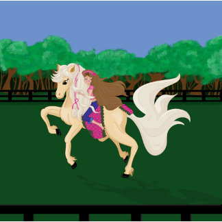 Awareness-Breast Cancer Horse Running in a Pasture