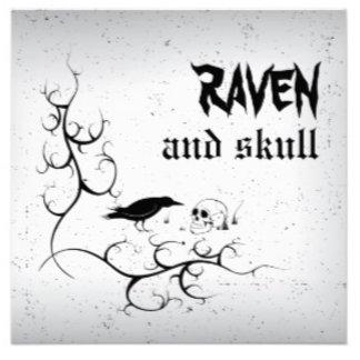 Raven and skull Gothic wedding
