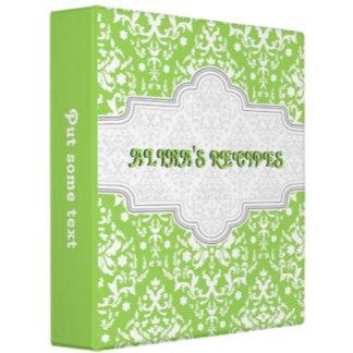 Damask pattern & frame recipe binders