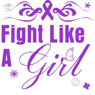 Epilepsy Fight Like A Girl Ornate