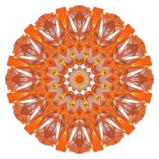 Orange Crystal Window Mandala