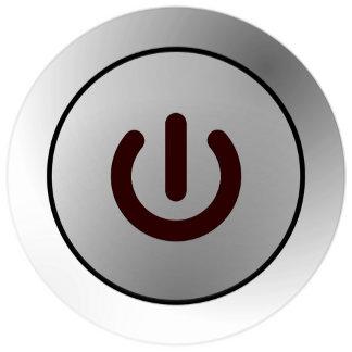 Power Button - White - On