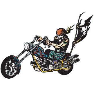 Pirate Chopper Skull Crossbones Flag