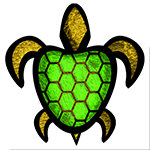Green Shell Turtle