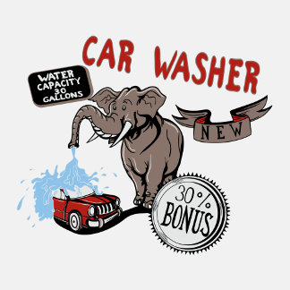 Elephant Car Washer - Funny New Invention