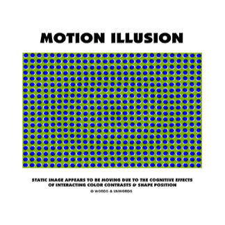 Motion Illusion (Blue Dots On Green Background)