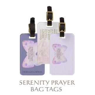 Serenity Prayer Bag Tags