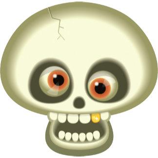 Halloween Crazy Skull Head
