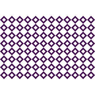 White and Purple Diamond Pattern