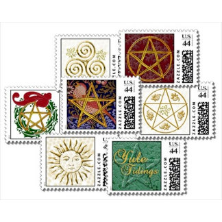 Yule Holiday Postage Stamps