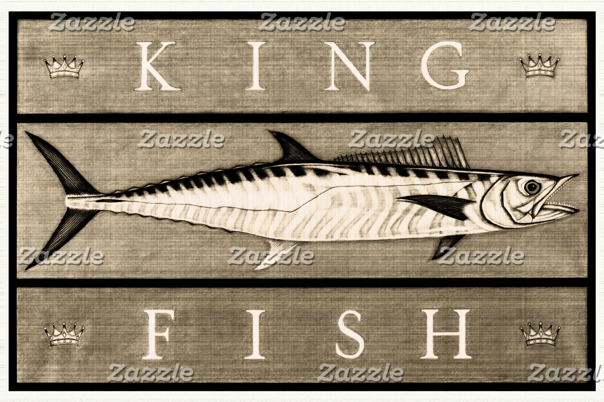 Kingfish Vintage Black & White