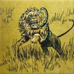 Lion Fighting Snake