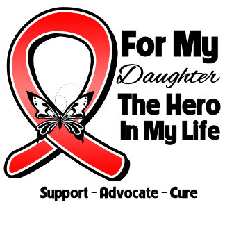 Red Ribbon For My Hero My Daughter