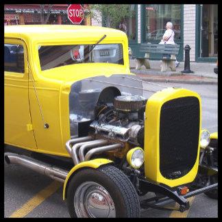 Classic Yellow Car 2