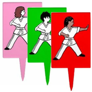 Karate Cake Toppers