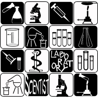 LABORATORY SCIENTIST SYMBOLS AND TOOLS