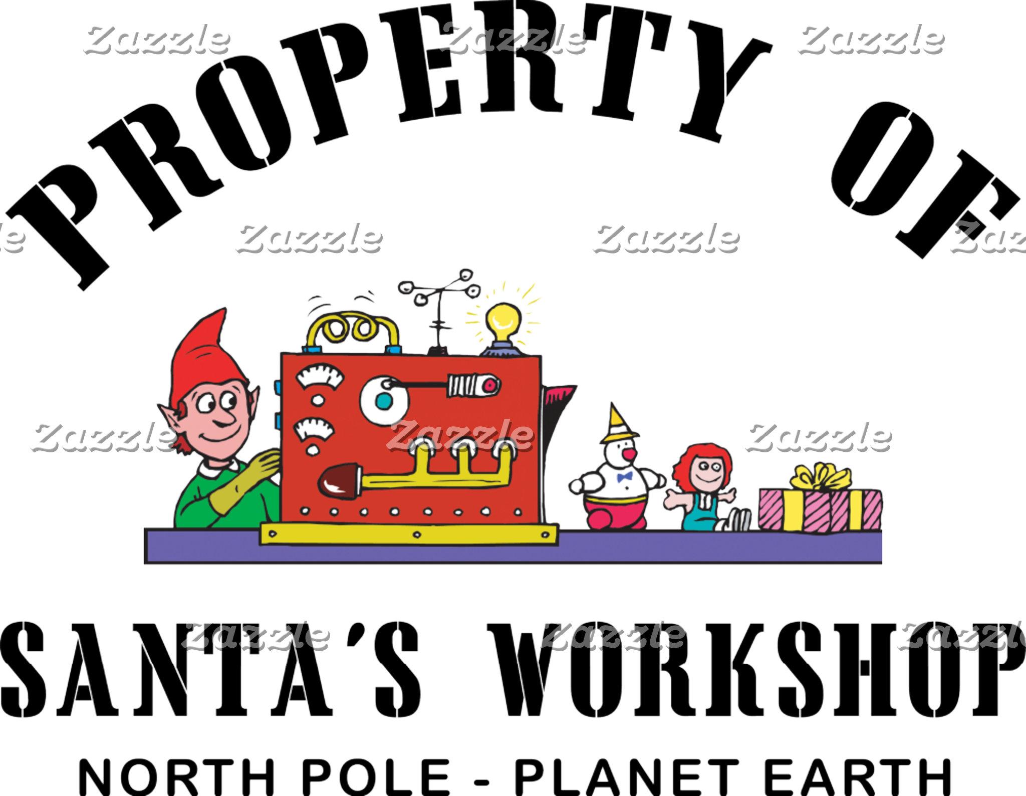 Property of Santa's Workshop T Shirt Gift Cards