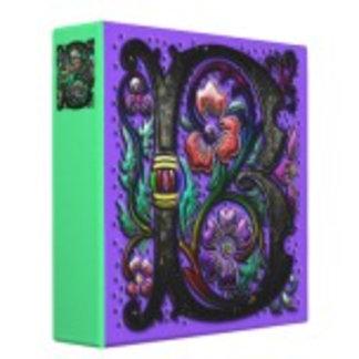 Binders Imprinted With Original Customizable Art