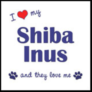 I Love My Shiba Inus (Multiple Dogs)