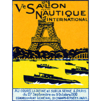1930 Paris Boat Show Poster