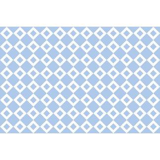 Light Blue and White Diamond Pattern