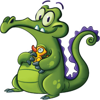 Swampy and Rubber Ducky