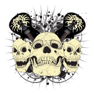 3 Rock n Roll Skulls
