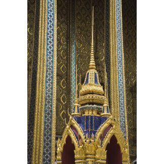 Thailand, Bangkok. Details of ornately decorated