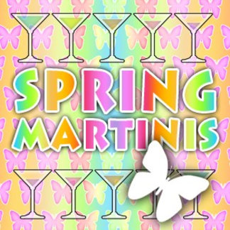 Spring Martini Recipe Cards