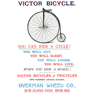 1880 Victor Bicycle Poster