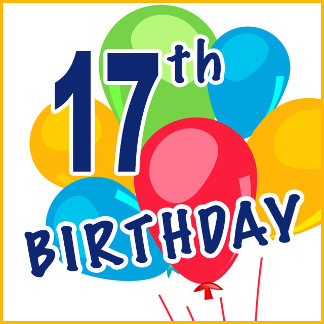 17th Birthday T-shirts and Gifts
