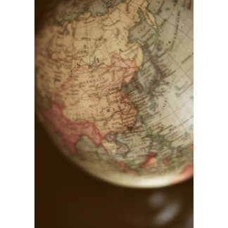 Close-up of antique globe 2