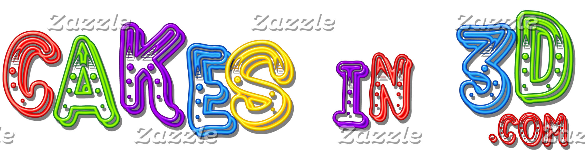 The Cakes in 3D logo 4