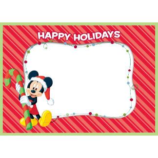 "Mickey Mouse Santa hat ""Happy Holidays"" christmas"